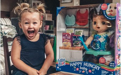 The Benefits Of Playing With Dolls & We Review The Baby Alive Happy Hungry Baby